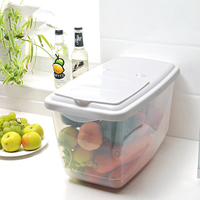 1pcs thick rice insect pest barrel kitchen plastic double Qing home material waterproof moisture proof fruit storage barrel