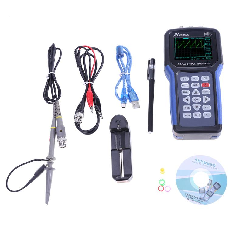 High Quality Portable Handheld 20MHz Bandwidth 200M Sampling Rate 2K Storage Depth Oscilloscope 200MSa/s Multimeter Oscilloscope