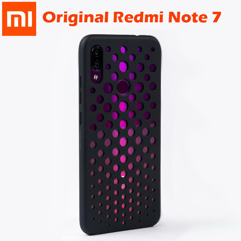Original Xiaomi Redmi Note 7 Case Frosted Shield Luxury PC Matte Hard Shell Phone Case Cover for Xiaomi Redmi Note 7 hollow hole-in Fitted Cases from Cellphones & Telecommunications