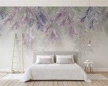 beibehang Customized 2019 new fashion small fresh lavender fruit 3d stereo TV background wallpaper papel de parede papier peint