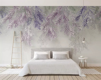 beibehang Customized 2019 new fashion small fresh lavender fruit 3d stereo TV background wallpaper papel de parede papier peint beibehang custom size abstract space corridor white sphere 3d stereo tv background wallpaper papel de parede 3d papier peint