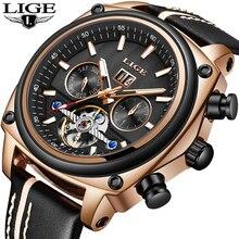 2018 New LIGE Men Watches Tourbillon Automatic Mechanical Watch Men Leather Waterproof Sport Watch Male Clock Relogio Masculino все цены