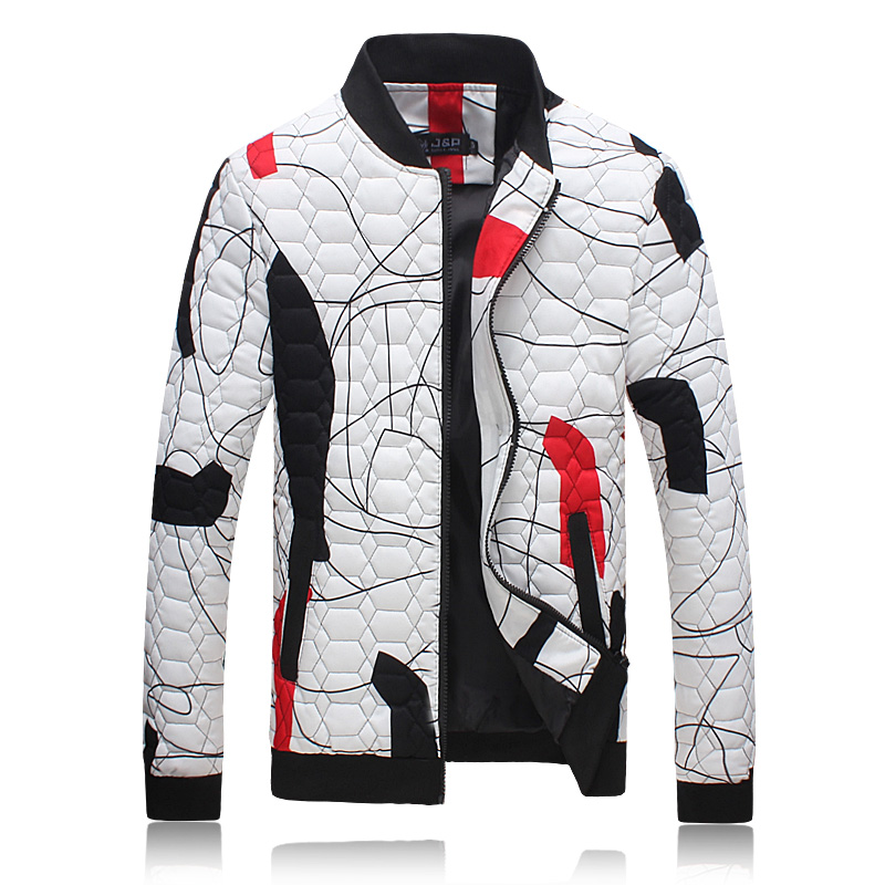 2016 new style winter Men s fashion leisure grid Decorative pattern cotton padded clothes men s