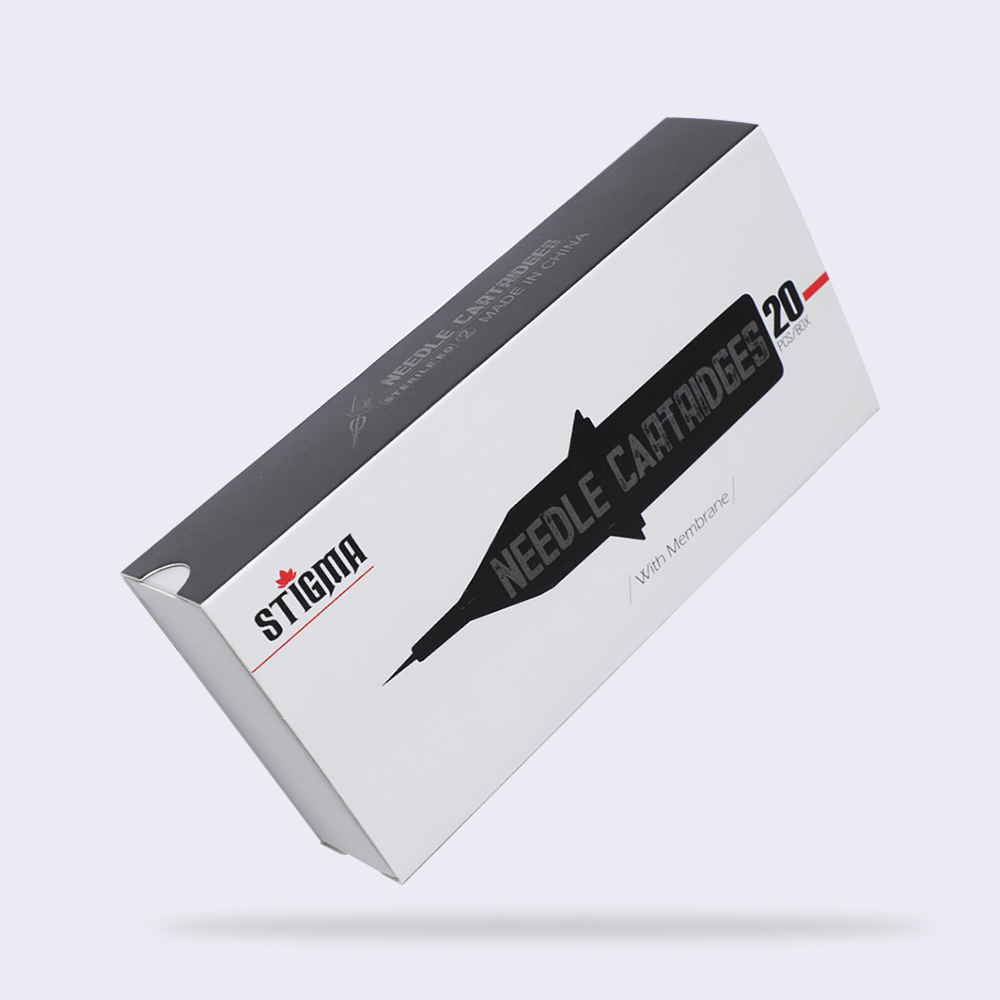 STIGMA Tattoo Needles Revolution Cartridge Flat Shader 12 0 35mm needle 1205F 1207F 1209F 1211F 1213F 1215F 20pcs box in Tattoo Needles from Beauty Health