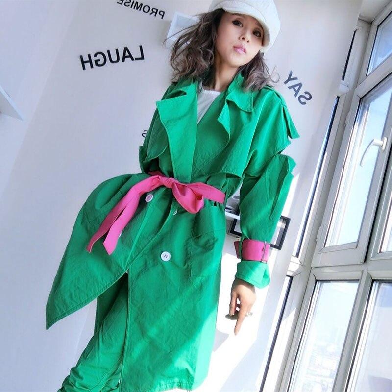 Oversize Giacca Donne del Rivestimento della Molla Giacca A Vento Cappotto Disegni di Patch Harajuku Allentato Bomber Streetwear Casual Cappotto Di Base - 6