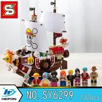 THOUSAND SUNNY ONE PIECE A pirate boat Monkey D. Luffy Tony Tony Chopper Building Blocks Bricks Model toys SY 6299