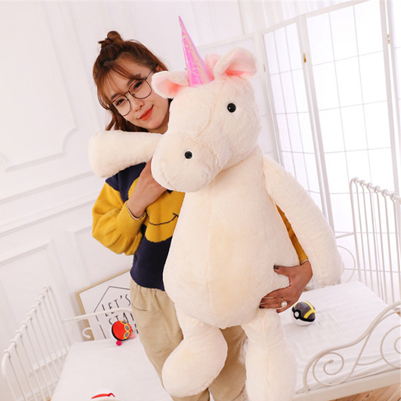 Fancytrader Pop Plush Unicorn Toys Soft Stuffed Animals White Horse Pillow Doll Kids Present stuffed plush animals shaun the sheep funny unicorn soft oyuncak knuffel anime figurines stuffed cotton 50a0116