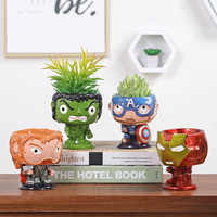 Avengers Flower Pots Planters Captain America Iron Man Raytheon Hulk Resin Succulents Garden Pot Multifunctional Home Decor
