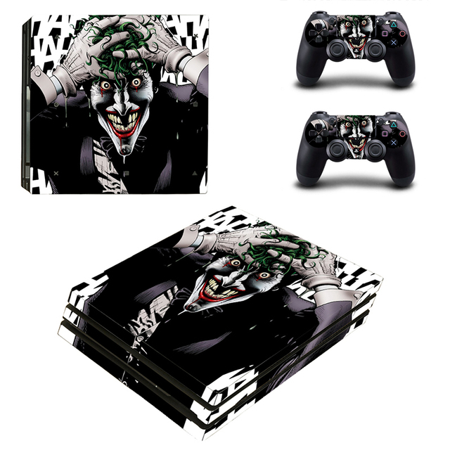 Skin Sticker For Sony Playstation PS4 Pro Console & 2Pcs Controller Protection Film Cover Skins