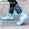2 pairs reusable Rain shoes cover Women/men/kids children thicken waterproof Boots Cycle Rain Flat Slip-resistant Overshoes