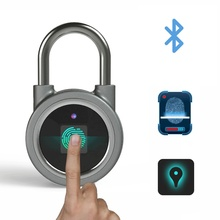 Bluetooth fingerprint padlock outdoor door padlock  smart fingerprint