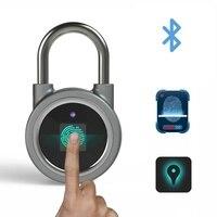 Bluetooth fingerprint padlock outdoor door padlock smart fingerprint padlock door locks fingerprint electronic door lock