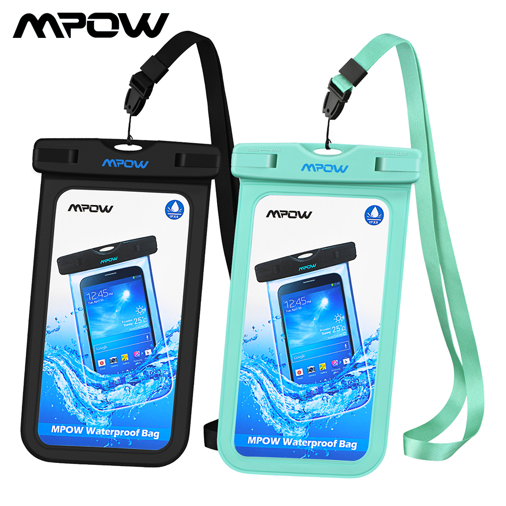 Galleria fotografica [2 PCS] Mpow PA085 IPX8 Waterproof Case Universal Phone Case Compatible With Max 6