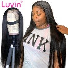 250, 300, 350, высокая плотность, без клея, 13x6, парики из натуральных волос на кружеве, бразильские Натуральные Прямые парики на кружеве для черной женщины