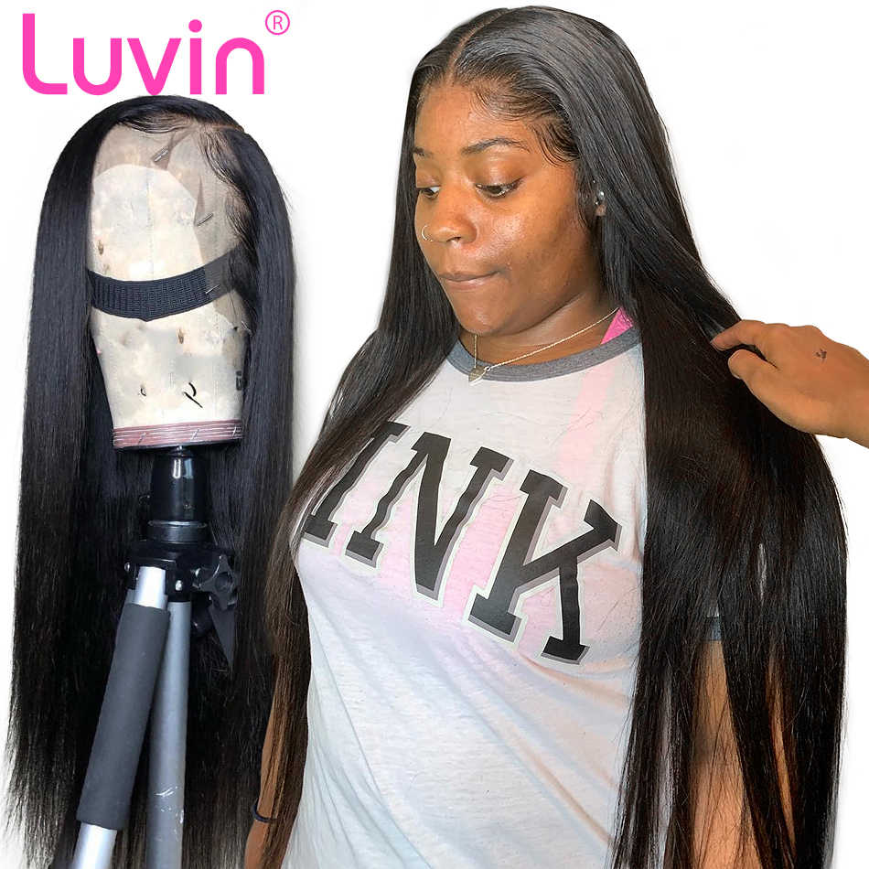 250 300 350 High Density Glueless 13x6 Lace Front Human Hair Wig Brazilian Virgin Straight Lace Frontal Wigs For Black Woman