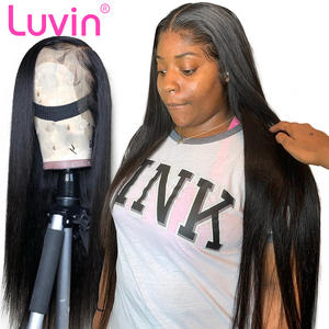 Wig Human-Hair Virgin Glueless Lace-Frontal 250 Brazilian Straight 350 for Black Woman