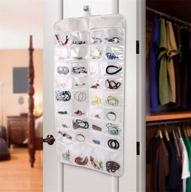 New Arrival Double Sided 72 Pocket Hanging Jewelry Organizer
