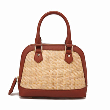 Womens bag handmade rattan cow leather big  handbag 2019 new fashion holiday and perfect combination