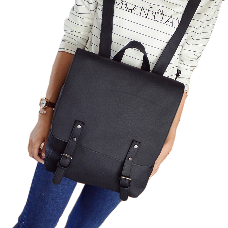 674e011959 Fashion Women PU Leather Backpack School Bag Travel Bookbag Casual ...