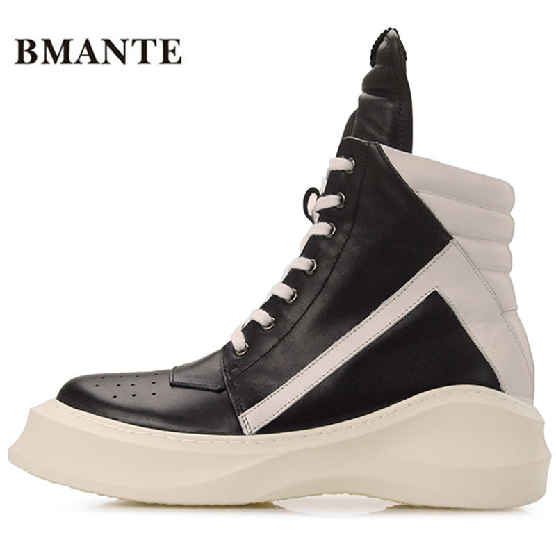 Real leather fashion casual footwear red White black male hightop tennis tall bambas Bieber High boot trainers shoe krasovki men все цены