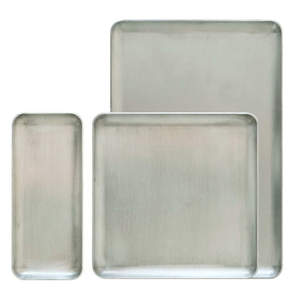 Nordic aluminum jewelry tray ins style square thickened pure aluminum storage tray home bedroom decorative furnishings in Home Office Storage from Home Garden