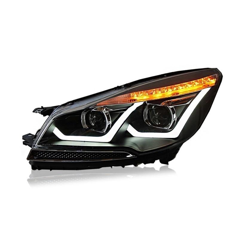 Сигнальные лампы дневного света в сборе Cob Drl Luces Led Para Авто Assessoires освещение автомобиля фары для Ford Kuga