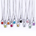 Candy Colors Trendy Crystal Love Heart Drift Bottle Pendant Necklace Fashion For Women Girl