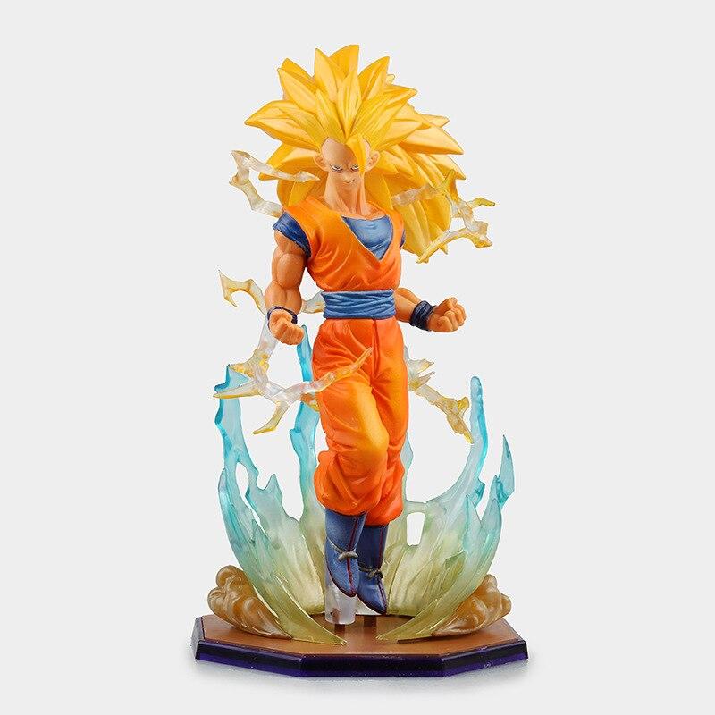 Anime Dragon Ball Super Saiyan 3 Son Gokou PVC Action Figure Collectible  Model Toy 18cm KT2841 1
