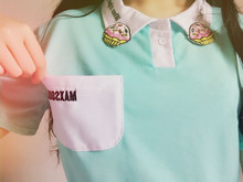 2017 Summer New Fashion Candy Color Cake Embroidered Casual Loose Female Polo Shirt