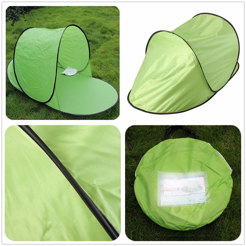 Image 5 - Sun Shelter Foldable Tent For Beach Summer Outdoor UV Tarp Sun Shade Pop Up Cabana Camping Awning Sunshade Beach Tents Canopy-in Sun Shelter from Sports & Entertainment
