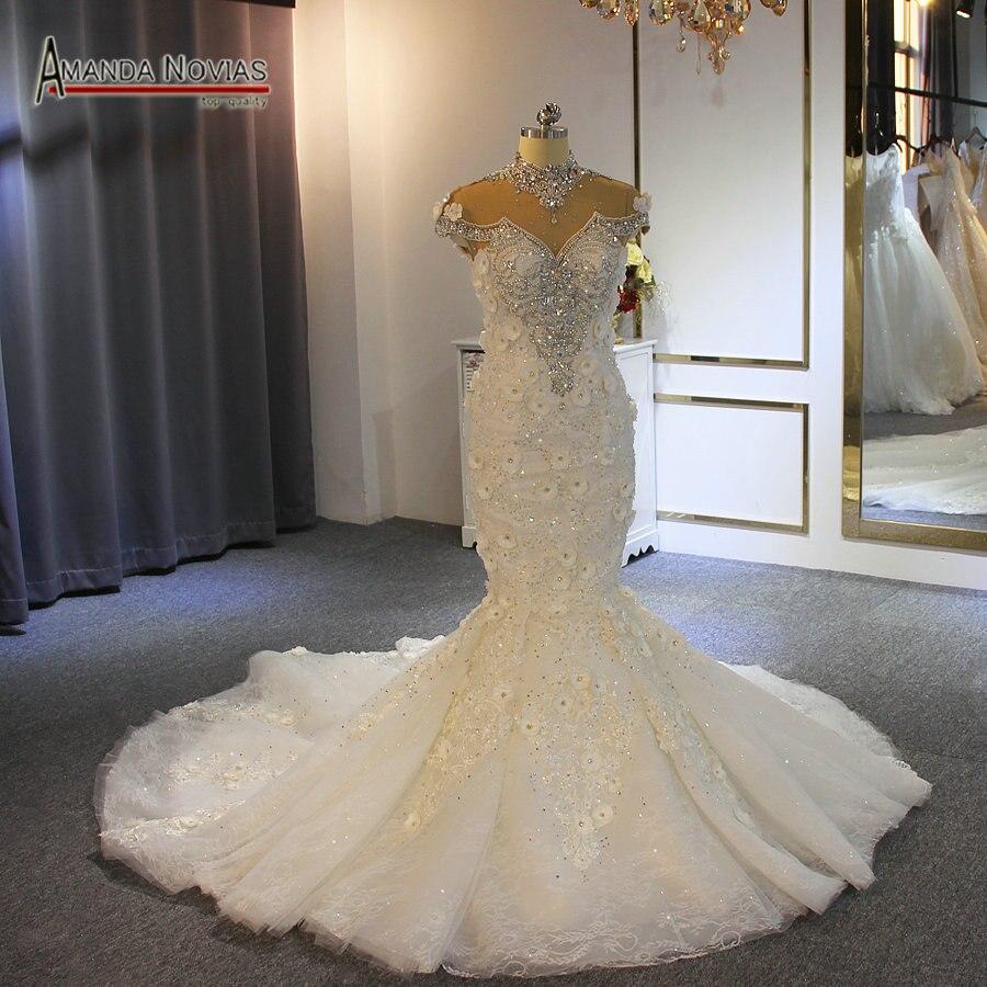 Trouwjurk 2019 Mermaid Volledige Kralen Luxe Bridal Dress Kwaliteit En Kwantiteit Verzekerd