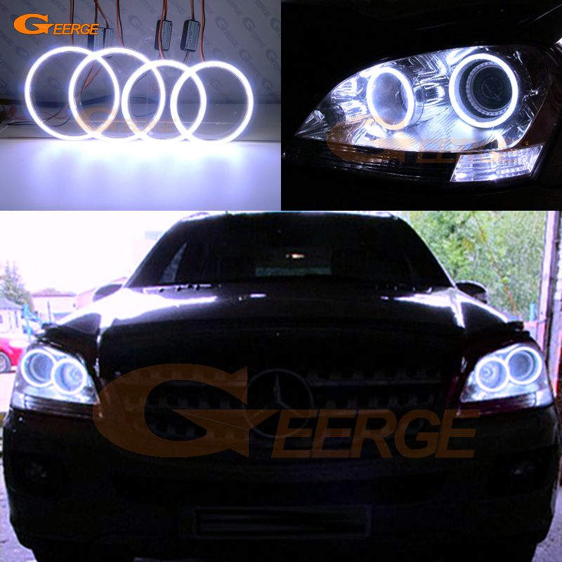 For Mercedes Benz M Class W164 ML320 ML350 ML500 ML63 AMG 2006 2007 Excellent Ultra bright illumination COB led angel eyes kit цены