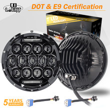 CO LIGHT 7'' Round LED Headlights 75W 35W High Low Beam Halo Angle Eyes DRL For Jeep Wrangler JK JL TJ LJ CJ Land Rover 12V 24V(China)
