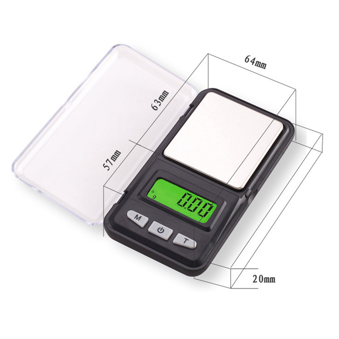 LCD Display Gram Weight Balance Weighing Digital Pocket Scales Electronic