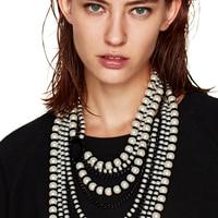 Nueva Llegada de la manera de Largo Collar de Perlas de Imitación colgante de Collar de gargantilla joyas declaración collar y colgante