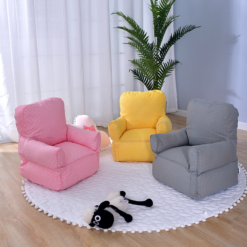 US $77.02 |Nordic Baby Kids Sofa for Children\'s Bedroom Decoration Yellow  Lattice Mini Sofa Bebe Bed Room Chair Chambre Chaise Enfant-in Children ...
