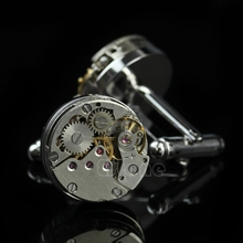Vintage Watch Movement Men's Cufflinks Steampunk Jewelry Wedding Groom Present-W128