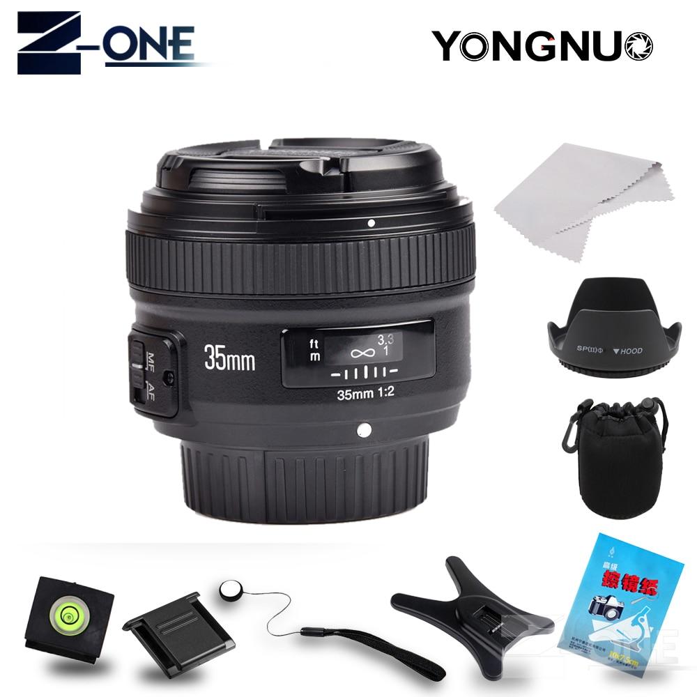 Objectif de mise au point fixe YONGNUO YN35mm F2.0 grand angle AF/MF pour monture Nikon F D7500 D7200 D7100 D5600 D3200 D3300 D3100 D5100 D300 D90