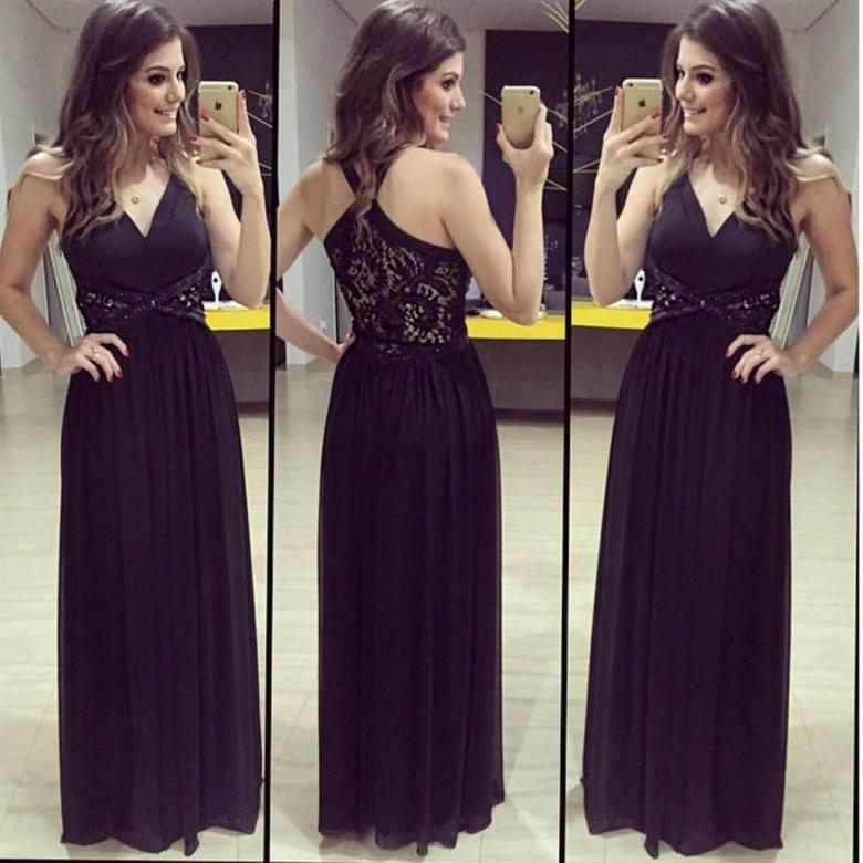 Womens V Neck Sleeveless Bridesmaid Dresses Long with Lace Ruched Chiffon Formal Evening Gown