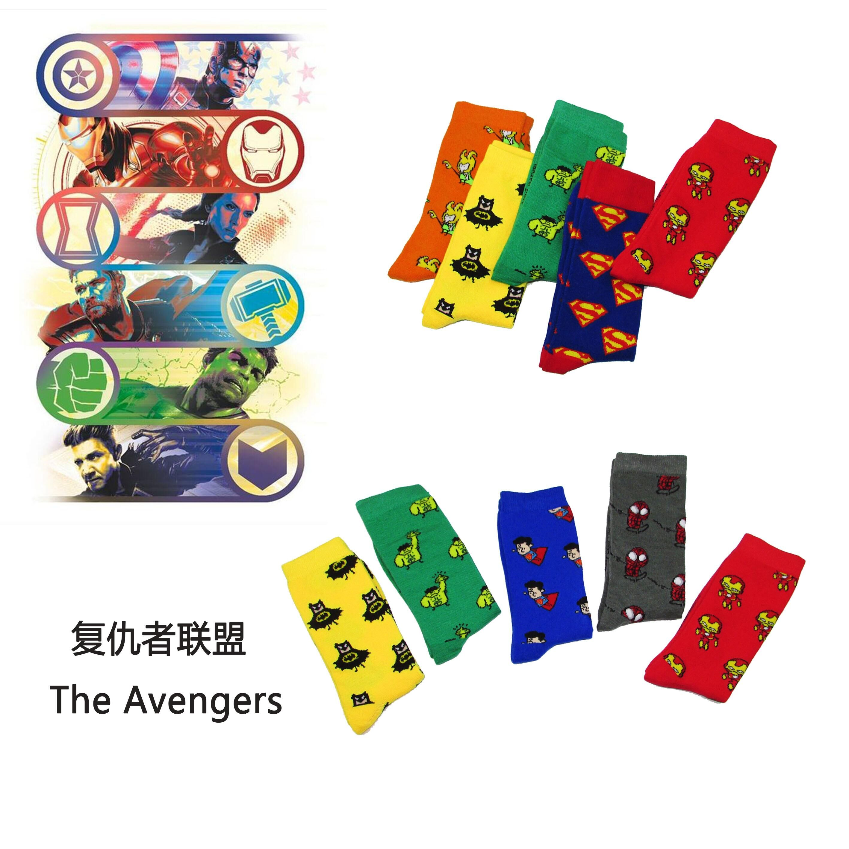 Marvel Cartoon Hero Image   Sock   Funny American Captain Surprise Iron Man Long   Socks   meia Avengers Cartoon Cute   Socks