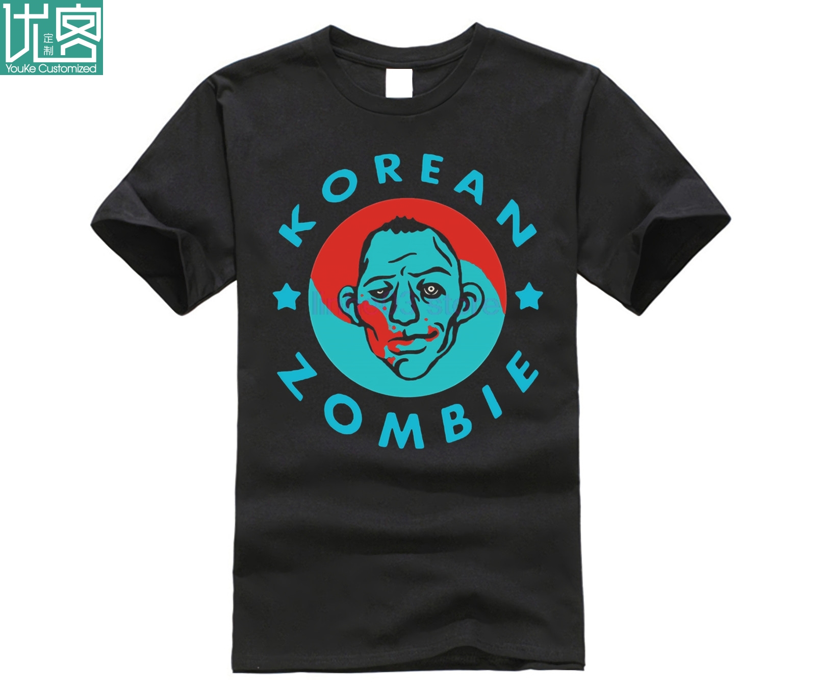 2019 New Brand Men T-Shirt Summer cotton Short Sleeve T Shirt KOREAN ZOMBIE SHIRT V1