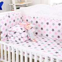 7pcs/set Colorful Cotton Baby Bedding Set Cot Bumpers Quilt Cover For Baby Bed Sheet Pillowcase Infant Crib Bedding Set Bed Kit
