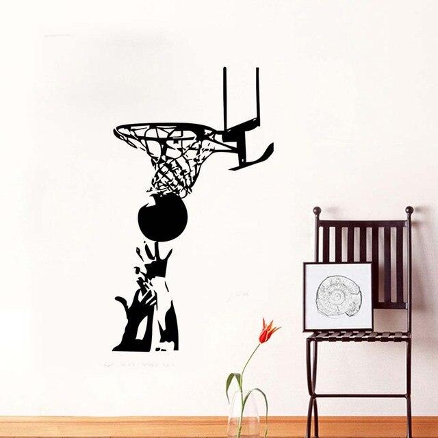 Pitched Basketball Wall Sticker Sports China Wallpaper Kids Wall