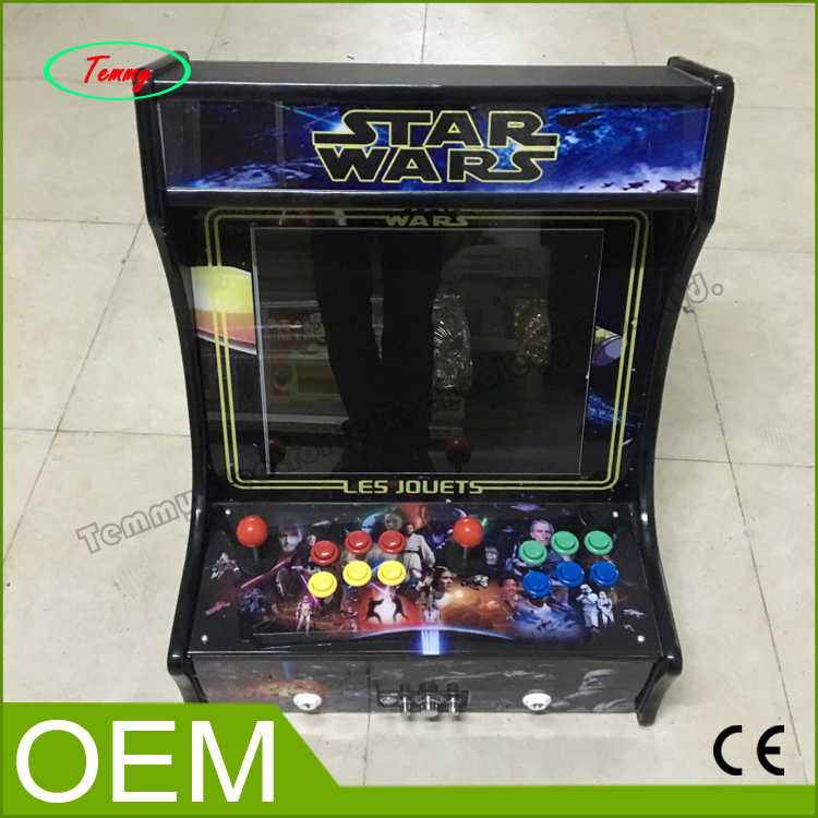 19 inch LCD games video Mini table top arcade with Classical games 645 in 1 PCB board