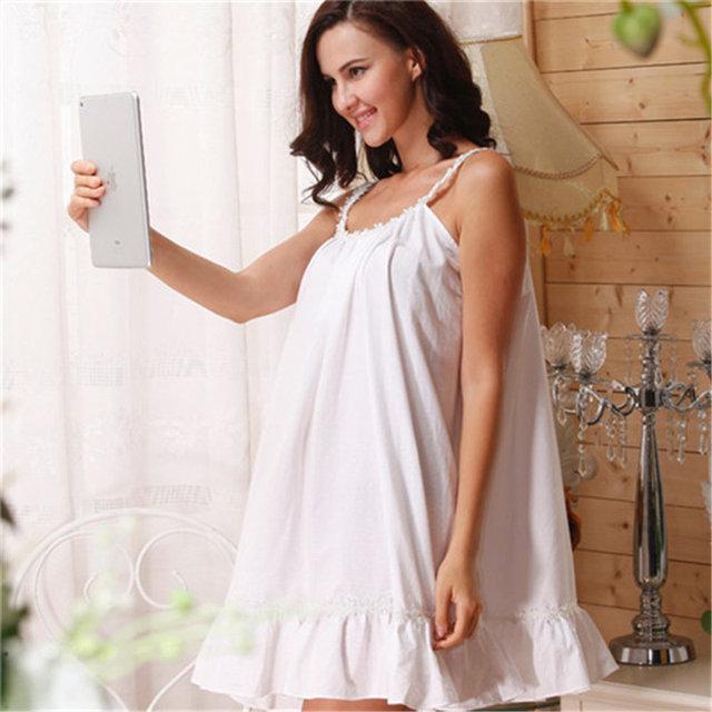 Women's Sleeveless Cotton Nightgown