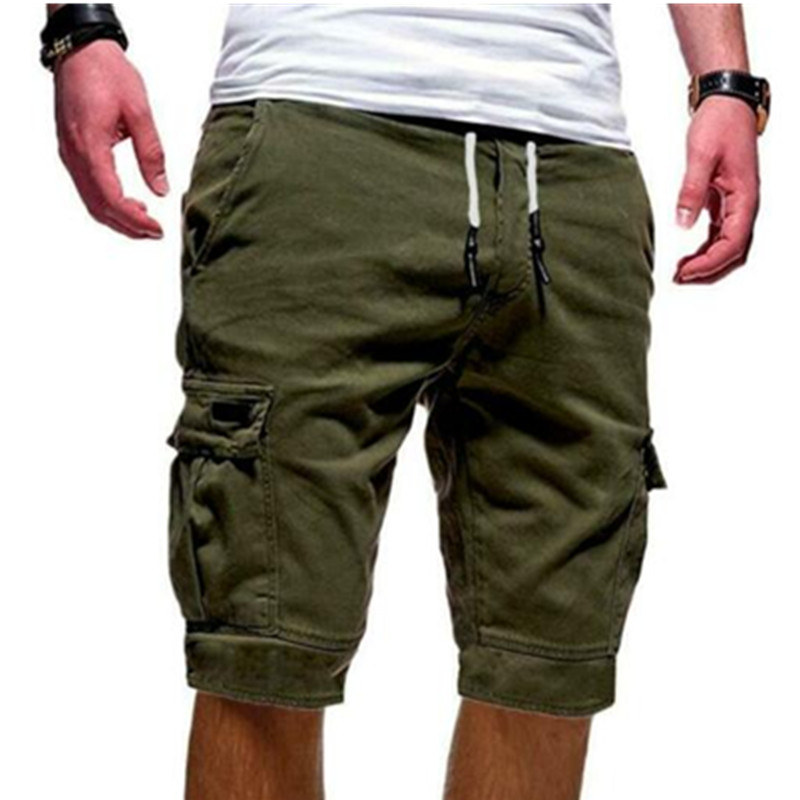 2019 Mens Military Cargo   Shorts   Summer army green Cotton   Shorts   men Loose Multi-Pocket   Shorts   Homme Casual Trousers Plus Size W3