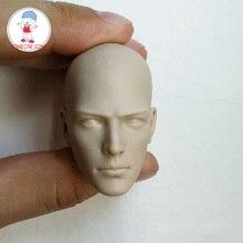 2 wersja 1/6 niepomalowane męskiej głowy rzeźbić buddyjski mnich biały Model głowy otwarte oczy zamknięte oczy dla 12 cali rysunek