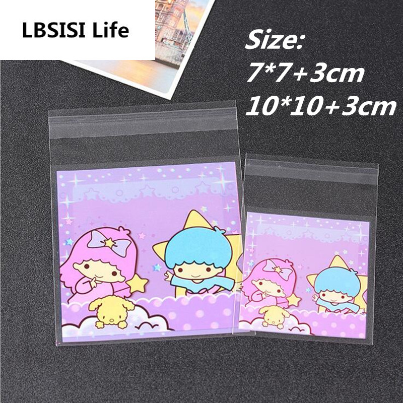 Detail Feedback Questions about 100pcs 7 7 10 10+3cm Cute Purple Double  People Gemini Resealable Bags Gift Bags Of Biscuits Candy Cookie Bags  Handmade Bag ... b61183cd8d844