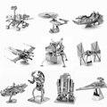 Brinquedos do Enigma 3D Modelo de Metal quente Do Módulo Lunar R2D2 Slave1 Imperial Shuttle Lutador Empate NANO Metálico Puzzles Quebra-cabeças Brinquedo DIY presentes