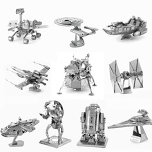 Hot Toys 3D Puzzle Metal Model Lunar Module R2D2 Slave1 Imperial Shuttle Tie Fighter NANO Metallic Jigsaws Puzzles DIY Toy Gifts